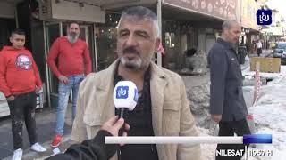 مواطنون وتجار ينفذون وقفة احتجاجية بسبب إغلاق شارع إيدون بإربد (25/11/2019)