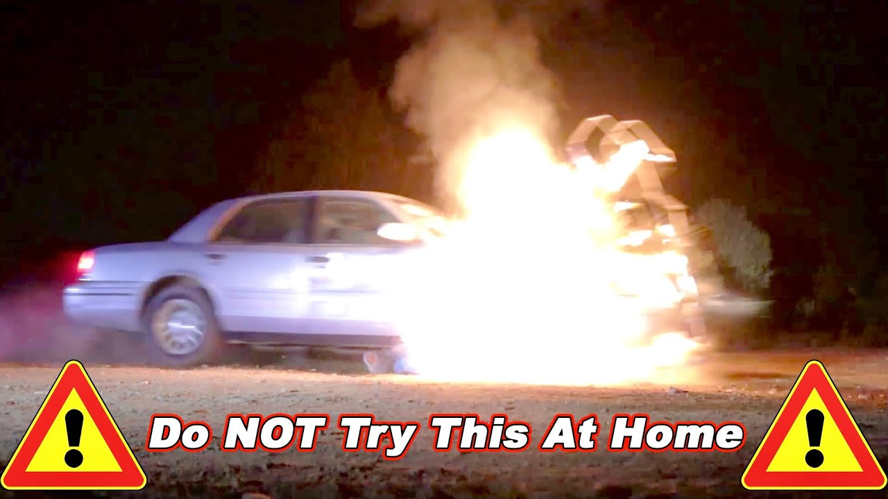 NEVER Deep Fry a Frozen Turkey And Drive Through The Flames!
