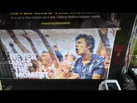 Battery Mosaic Maker -- Hovefestivalen -  #Nevermissthemoment