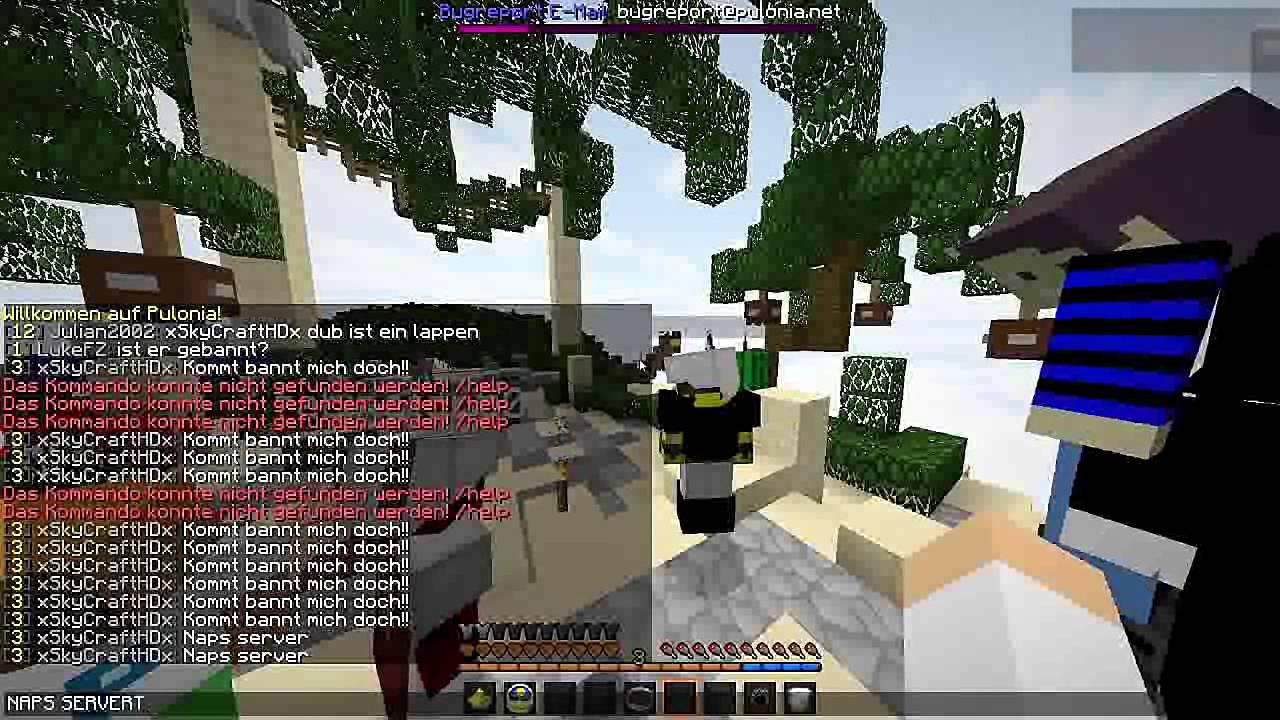 SO BANNT MAN SICH VOM PULONIA SERVER YouTube - Minecraft spieler entbannen