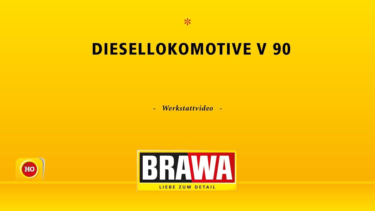 BRAWA H0 Diesellok V 90 - Werksattvideo mit Laufmuster - YouTube