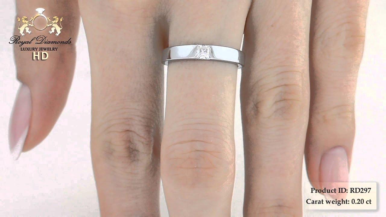 Verlobungsringe Rd297 18kt Weissgold Ring Mit Einem Princess