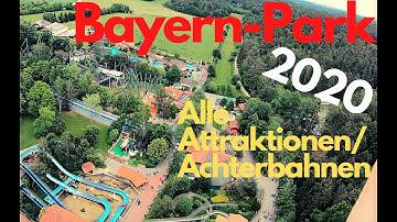 BAYERN PARK 2020 ALLE ATTRAKTIONEN, ACHTERBAHNEN