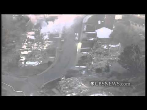 Aerial View of San Bruno Gas Fire Devastation