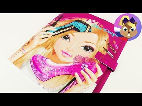 """Альбом-раскраска с наклейками TOP Model """"Shoe Designer - Дизайнер обуви""""   Распаковка"""