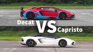 DECAT Aventador SV VS. CAPRISTO Aventador - INSANE V12 SOUNDS!!