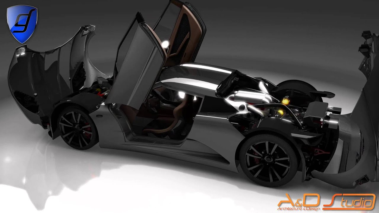 Genty Automobile Powers Up Akylone Hypercar Concept Youtube