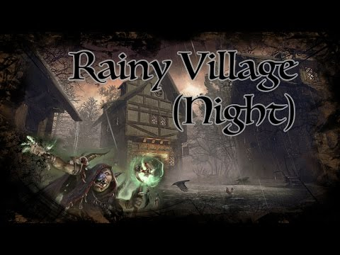 D&D Ambience - Rainy Village (Night)