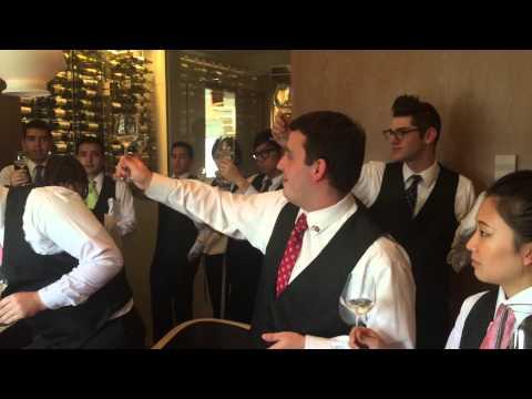 Champagne Sabering at CIA's Bocuse Restaurant