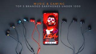 Top 5 Best Branded Earphones Under 1000 rs 2020 MUSIC & GAMING/Realme,Sennheiser,JBL,Sony MDR,1More