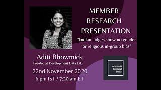 Member Research Presentation with Aditi Bhowmick