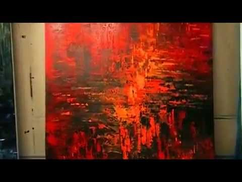The Light Red Abstract Painting By Tatiana Iliina