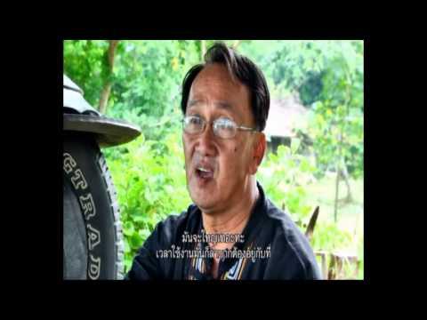 คนไทยหัวใจสีเขียว การทำลำโพงจากยางรถยนต์