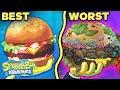 Every Krabby Patty Ranked by GROSSNESS! 🍔 SpongeBob