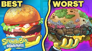 Every Krabby Patty Ranked By GROSSNESS! 🍔 | SpongeBob
