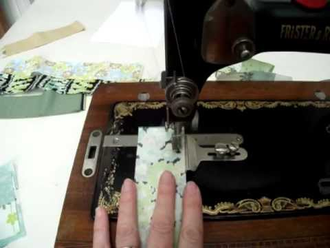 How To Use A Seam Guide On A Vintage Sewing Machine - 1937 Frister And Rossmann Transverse Shuttle