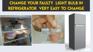 How to change refrigerator light and holder