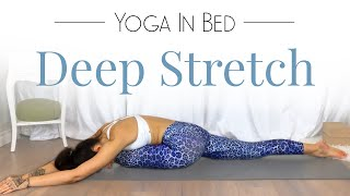 Restorative Yoga for Hips ( BEST Bed Yoga for Relaxation )