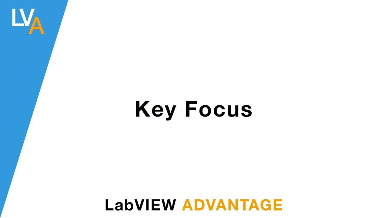How to use a Key Focus - LabVIEW