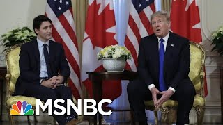 Trump Says Canada Is 'Slightly Delinquent' For Not Meeting Their NATO Contribution | MSNBC