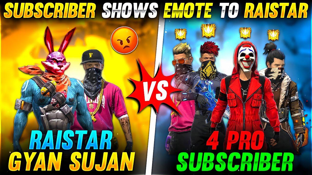 Raistar Vs Subscriber Clash 2 Vs 4 Challenge