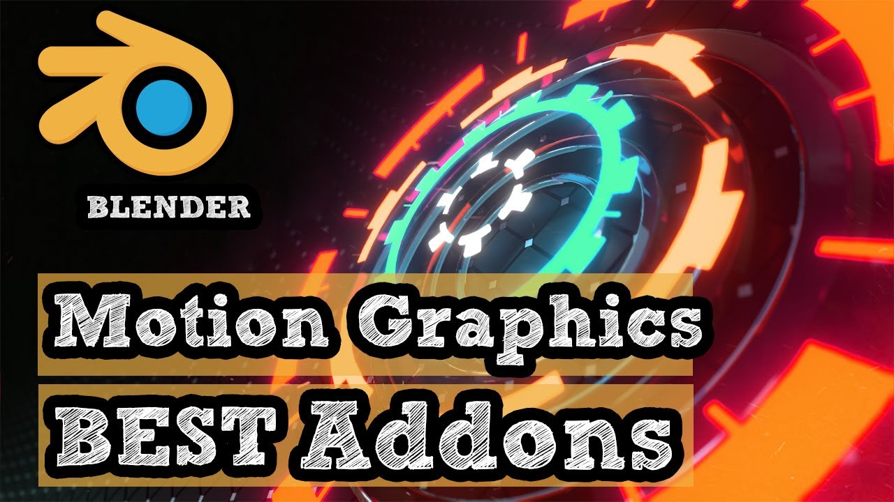 Blender Addons for Motion Graphics