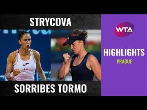 Download Barbora Strycova vs. Sara Sorribes Tormo   2020 Prague First Round   WTA Highlights