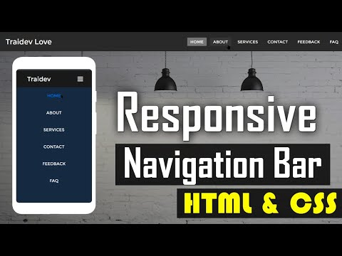 Responsive Navigation Bar With Html CSS - Responsive Sidebar Menu For Mobile | LOVE CODE  ❤️❤️