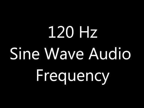 120 Hz Sine Wave Sound Frequency Tone