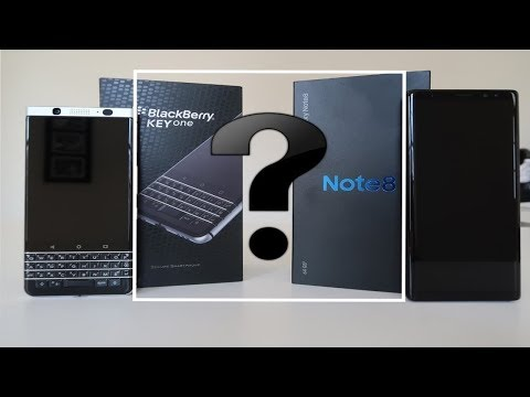 BlackBerry KEYone or Samsung Galaxy Note 8 - The Verdict