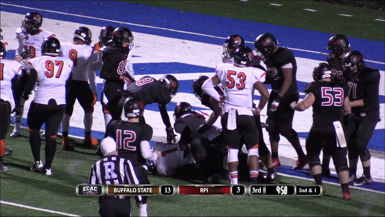 football: rpi storms back to beat buffalo state 20-13 in the ecac