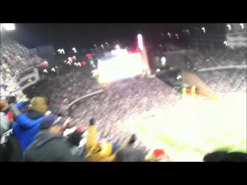 Gillette stadium - Pats win after miss