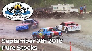 September 9th 2018, LOW Speedway Pure Stocks Heat & Feature