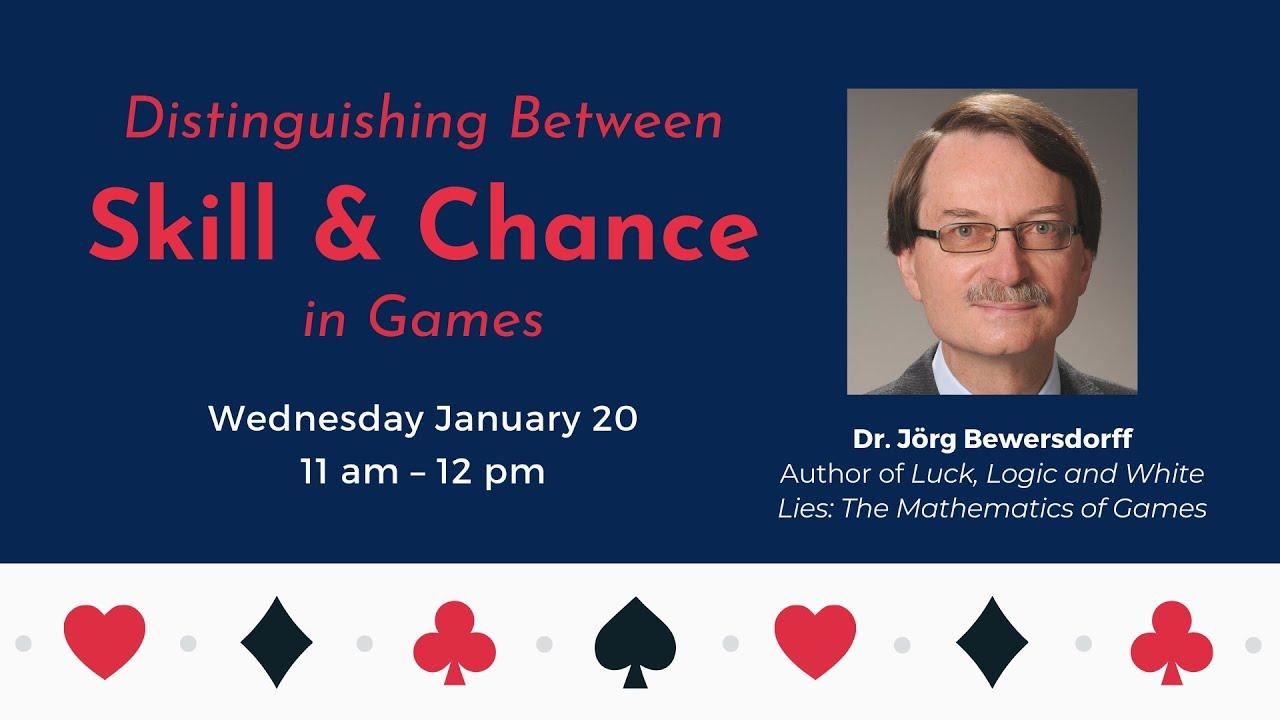 MASSA Webinar: Distinguishing Between Skill & Chance in Games