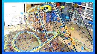 K'Nex SON OF SERPENT Biggest Roller Coaster review knex set #52242