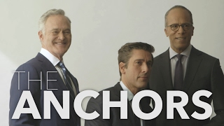 Scott Pelley, Lester Holt, David Muir - Variety Cover Story - The Anchors