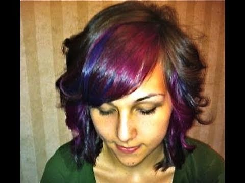 How to peekaboo pinkpurple highlights youtube pmusecretfo Choice Image