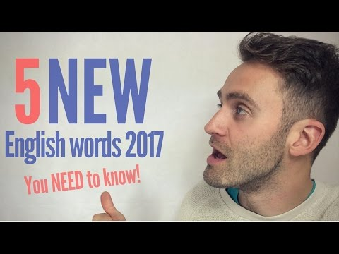 5 New English Words You NEED to Know 2017