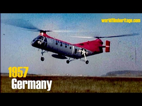 "1957 Airshow in color: Piasecki H-21 ""Flying Banana"" and many more - Germany - Ardennes - Eifel"
