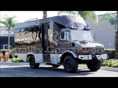 Mercedes benz unimog u 1300l awd shuttle tour bus by for Mercedes benz tour bus