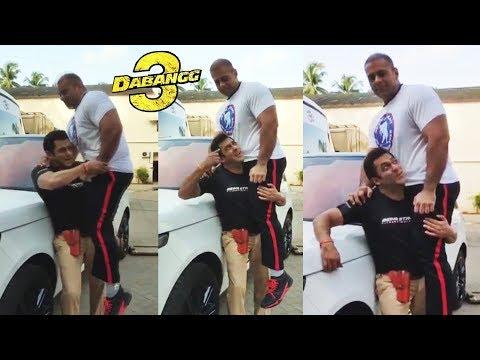 Salman Khan Lifts Bodybuilder Nephew On His Shoulder On Dabangg 3 Set Mp3