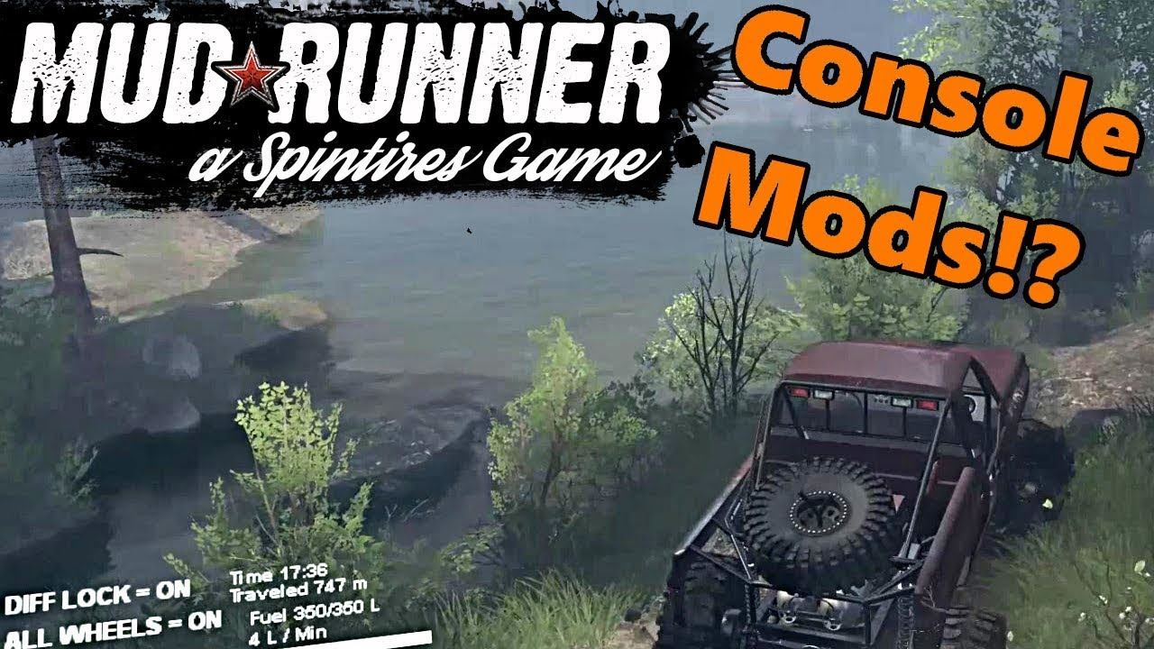 spin tires mudrunner will mods work on xbox one and ps4. Black Bedroom Furniture Sets. Home Design Ideas