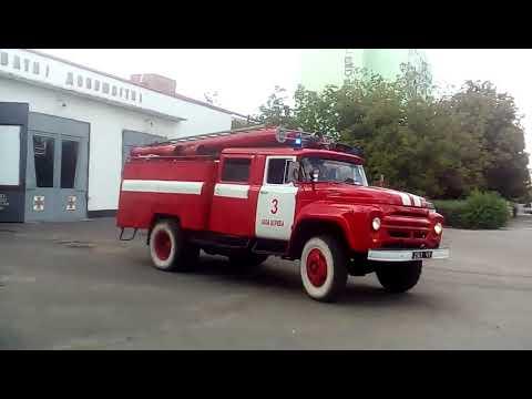 Fire trucks responding to call