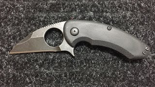 Brous Blades Silent Soldier Flipper G10 Acid Stonewash Review