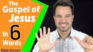 The Gospel of Jesus Christ - In Six Words | What is the Gospel & How to Share the Gospel