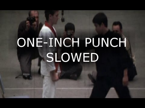 Bruce Lee - One and Six Inch Punches Slowed Down