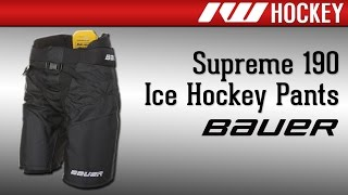 Bauer Supreme 190 Ice Pant Review