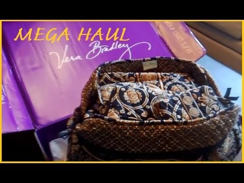Vera Bradley MEGA HAUL - REVIEWING 21 STYLES - CAFFE LATTE EBAY COLLECTION