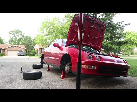 How to install coilover on a Acura Integra ( 1994 – 2001 )
