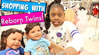 Shopping With Reborn Toddler Twins